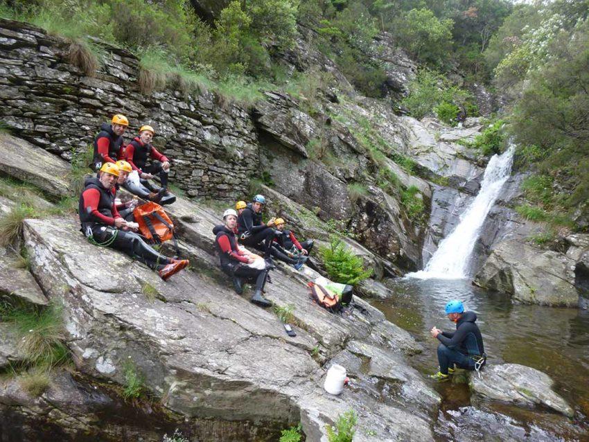 Sortie canyoning avec les adultes du club d'Escalade des Gorges de l'Ardèche